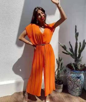 Γυναικεία ολόσωμη φόρμα σολέιγ 27832 πορτοκαλί