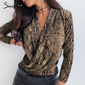 Γυναικεία μπλούζα κρουαζέ 502002 φίδι
