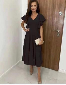 Γυναικείο φόρεμα μίντι 8059 μαύρο