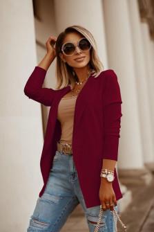 Γυναικείο σακάκι 5018 μπορντό