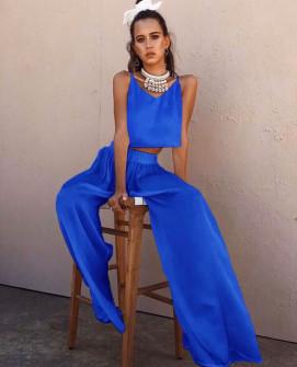 Γυναικείο σετ τοπάκι και παντελόνι 5069 μπλε