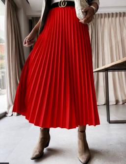 Γυναικεία φούστα σολέιγ 5644 κόκκινη