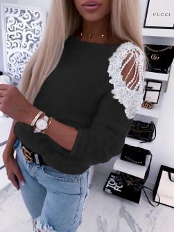 Γυναικεία εντυπωσιακή μπλούζα 2872 μαύρη