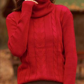 Πλεκτή μπλούζα ζιβάγκο 81027 κόκκινη
