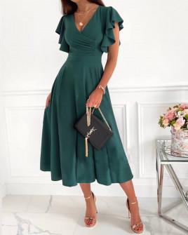 Γυναικείο μιντι φόρεμα 3777 πράσινο
