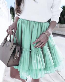 Γυναικεία φούστα τούλι 3574 μέντα