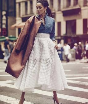 Γυναικεία φούστα δαντέλας 5052
