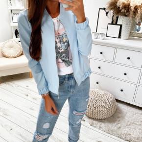 Γυναικείο μπουφάν με φερμουάρ 5039 γαλάζιο