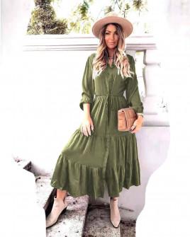 Γυναικείο μακρύ φόρεμα 8266 μπορντό