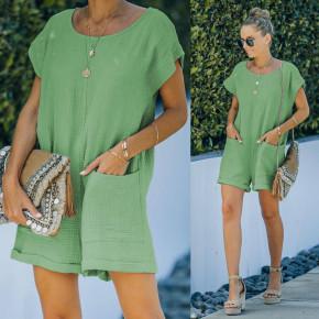 Γυναικεία χαλαρή ολόσωμη φόρμα 21262 πράσινο