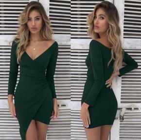 Γυναικείο εφαρμοστό φόρεμα 7106 πράσινο