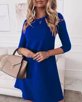 Γυναικείο ριχτό φόρεμα 3796 μπλε