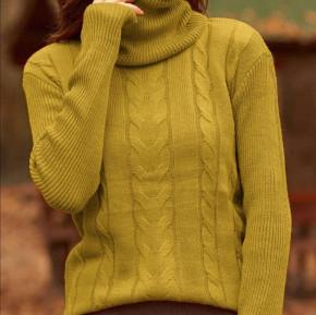 Πλεκτή μπλούζα ζιβάγκο 81027 κίτρινη