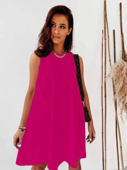 Γυναικείο χαλαρό φόρεμα 5748 φούξια