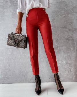 Γυναικείο εντυπωσιακό παντελόνι 5949 κόκκινο