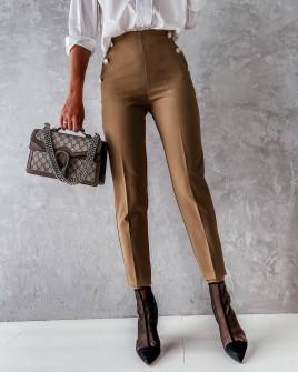 Γυναικείο εντυπωσιακό παντελόνι 5949 καμηλό