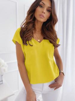 Γυναικεία κοντομάνικη μπλούζα 5044 κίτρινη