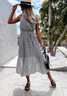 Γυναικείο φόρεμα κρουαζέ 21313 μαύρο