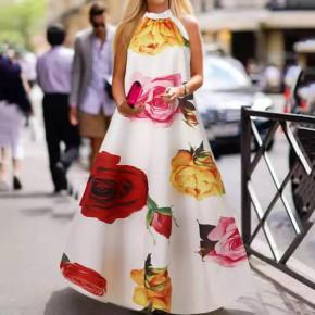 Γυναικείο plus size φόρεμα 21470 άσπρο