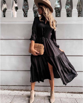 Γυναικείο μακρύ φόρεμα 8266 μαύρο