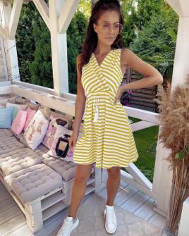 Γυναικείο φόρεμα 5181 κίτρινο