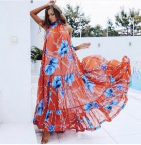 Γυναικείο μακρύ φόρεμα 501003