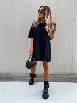 Γυναικείο μπλουζοφόρεμα  13780 μαύρο