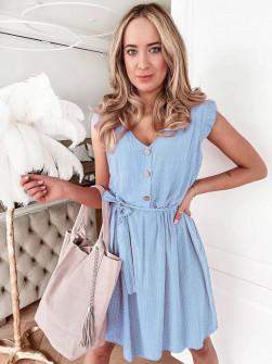 Γυναικείο φόρεμα 21222 γαλάζιο