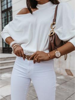 Γυναικεία εντυπωσιακή μπλούζα 4118 άσπρη
