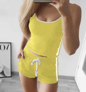 Γυναικείο αθλητικό σετ 2453 κίτρινο