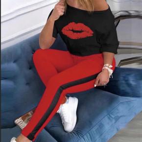 Γυναικείο σετ με φιλί 2218 κόκκινο