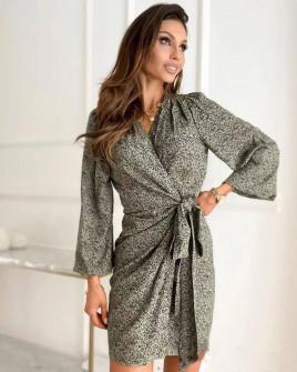 Γυναικείο φόρεμα με εντυπωσιακό ντεσέν 581607