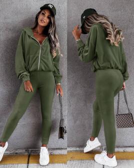 Γυναικείο βελούδινο σετ 5958 πράσινο