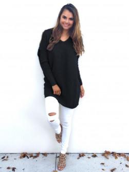 Γυναικείο μπλουζοφόρεμα 13821 μαύρο