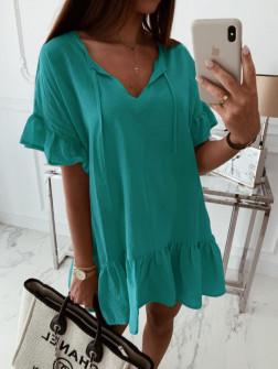 Γυναικείο χαλαρό μπλουζοφόρεμα 5110 τυρκουάζ