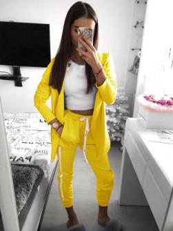Γυναικείο σετ σακάκι και παντελόνι 3972 κίτρινο