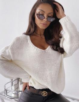 Γυναικείο πουλόβερ 888 άσπρο