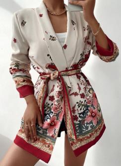 Γυναικείο κομψό σακάκι με ζώνη 56009