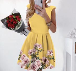 Γυναικείο φόρεμα 2699 κίτρινο