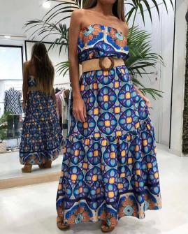 Γυναικείο φόρεμα με ζώνη 2118803
