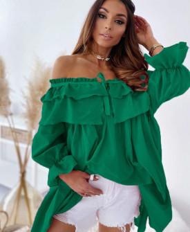 Γυναικείο μπλουζοφόρεμα 7075 πράσινο