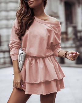 Γυναικείο κλος φόρεμα 21303  ροζ