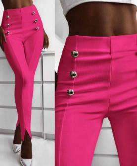 Γυναικείο παντελόνι με σκισίματα 5517 φούξια