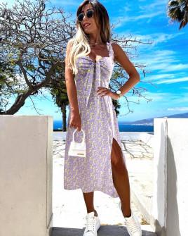 Γυναικείο φόρεμα με σκίσιμο 629404