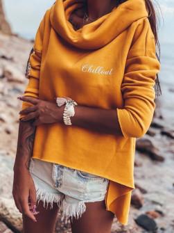 Γυναικείο μπλουζοφόρεμα ζιβάγκο 13644 κίτρινο