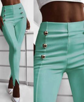 Γυναικείο παντελόνι με σκισίματα 5517 μέντα