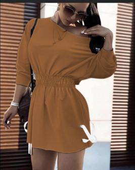 Γυναικείο αθλητικό φόρεμα 19743 καμηλό