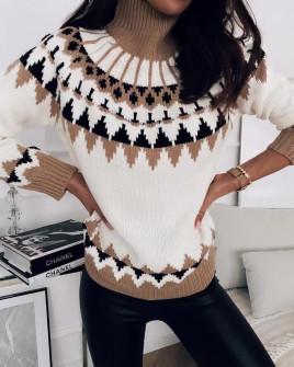 Γυναικείο εντυπωσιακό πουλόβερ 8146 άσπρο