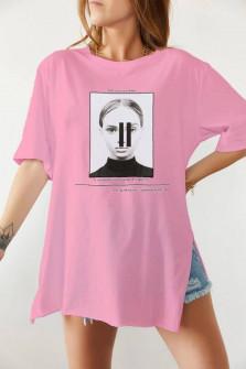 Γυναικείο κοντομάνικο 191918 ροζ