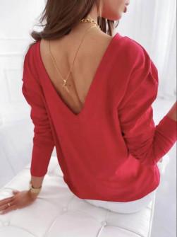 Γυναικεία εξώπλατη μπλούζα 51036 κόκκινη